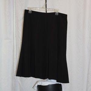 Worthington Black Flare Skirt